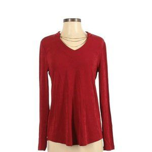 Travelers by Chico's Womens Chain Long Sleeve Top